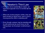 newton s third law32