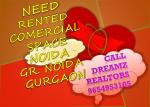 need rented comercial space noida gr noida gurgaon