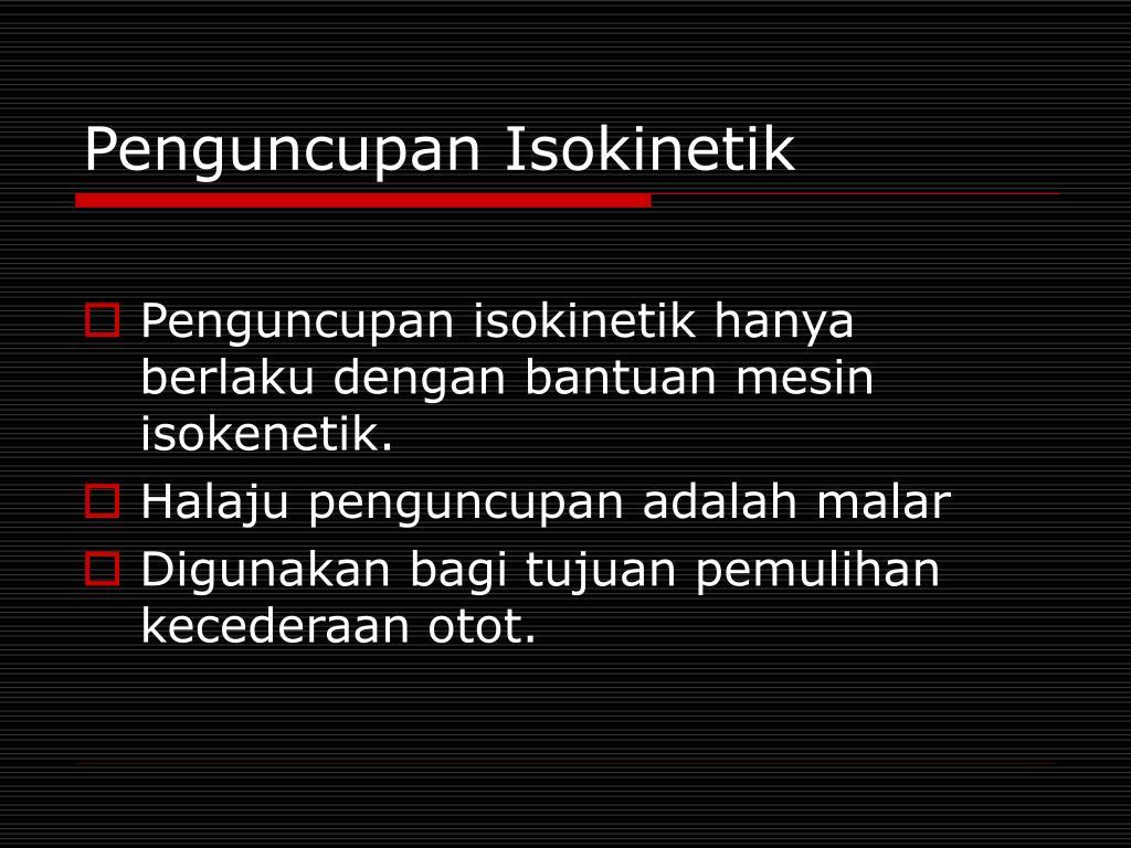 Penguncupan Isokinetik