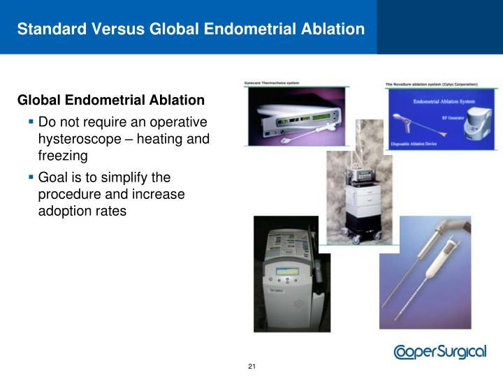 Standard Versus Global Endometrial Ablation