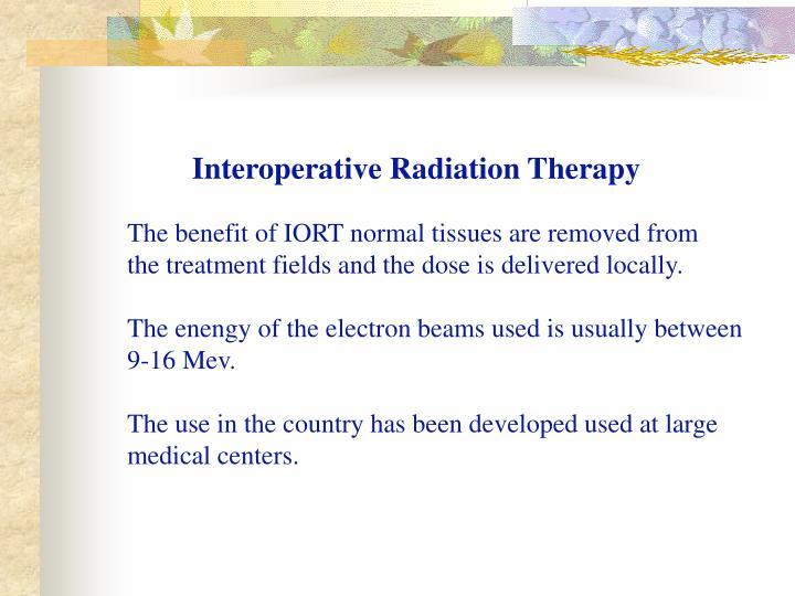 Interoperative Radiation Therapy
