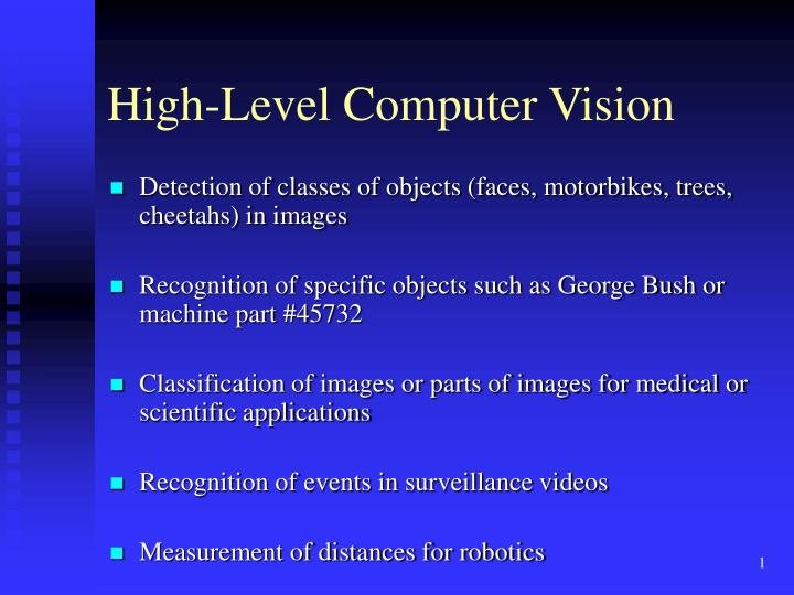 High level computer vision