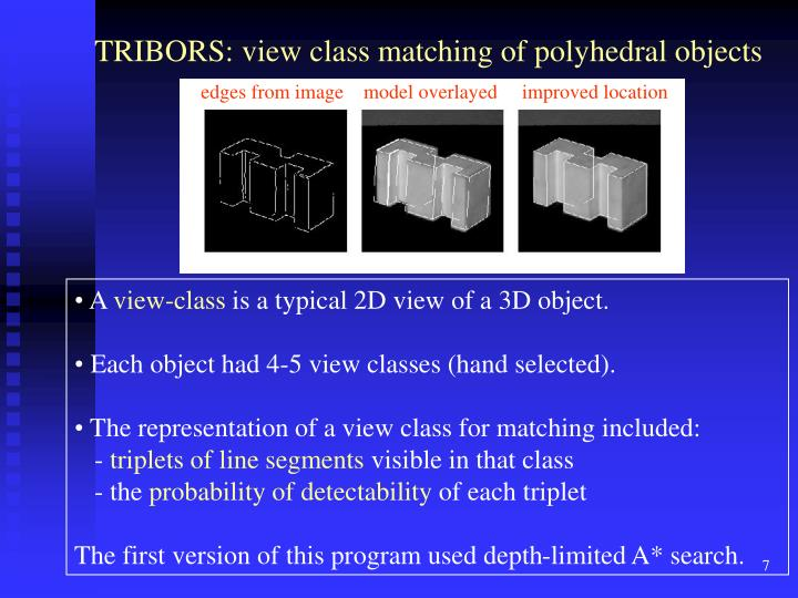 TRIBORS: view class matching of polyhedral objects