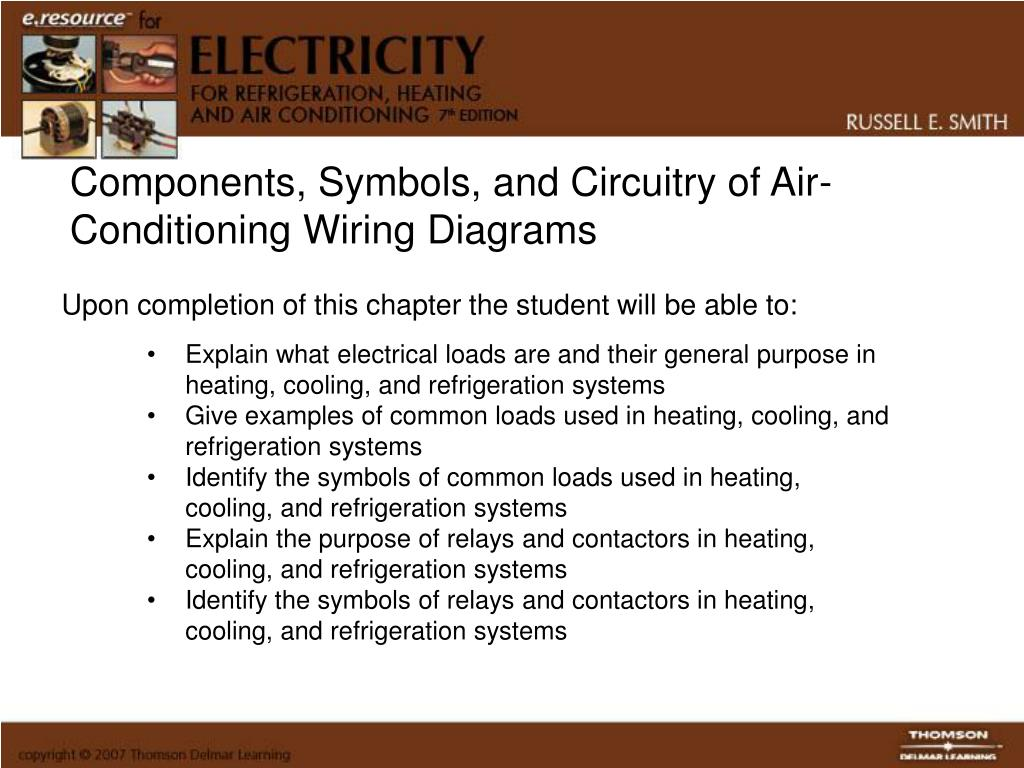 refrigeration components wiring diagram symbols ppt components  symbols  and circuitry of air conditioning  circuitry of air conditioning