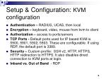 setup configuration kvm configuration