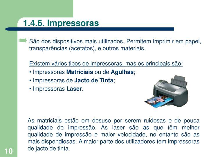 1.4.6. Impressoras