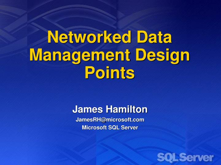 networked data management design points n.