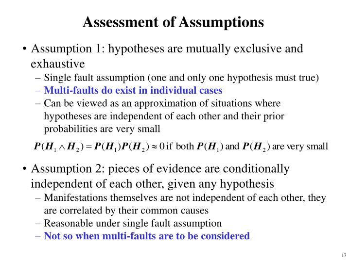 Assessment of Assumptions