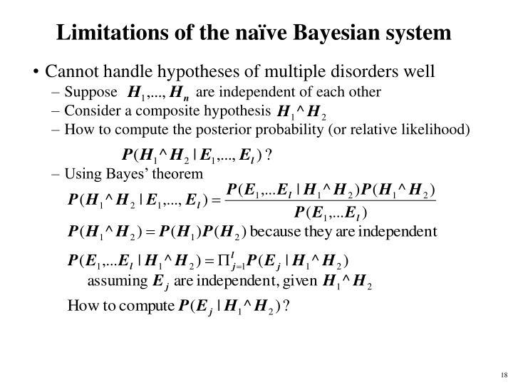 Limitations of the naïve Bayesian system