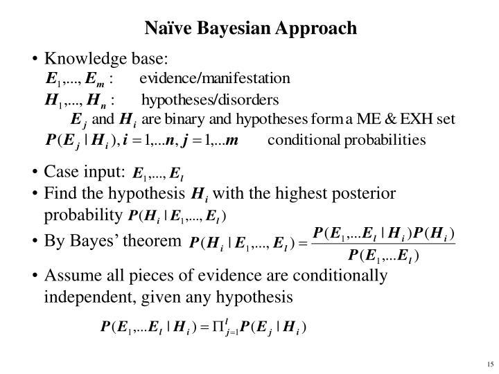 Naïve Bayesian Approach