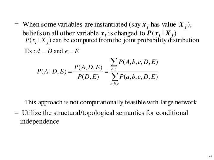 Utilize the structural/topological semantics for conditional independence