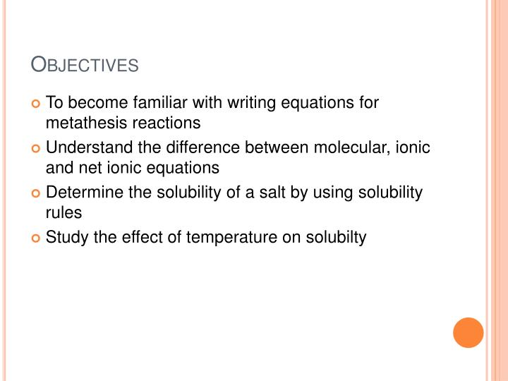 aqueous metathesis Answer to aqueous potassium chloride will react with which one of the following in an exchange (metathesis) reaction lead nitrate.