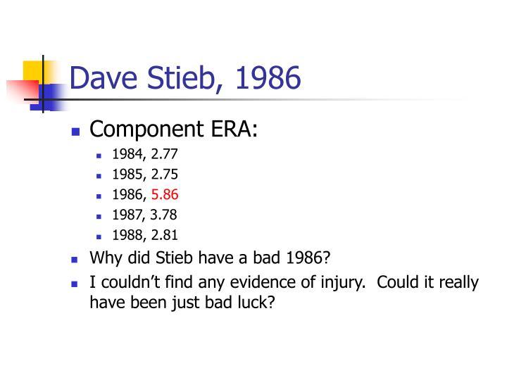 Dave Stieb, 1986