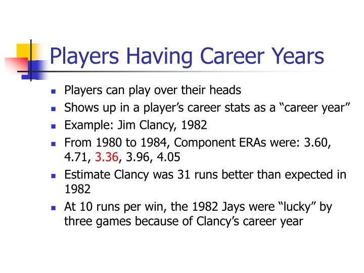 Players Having Career Years