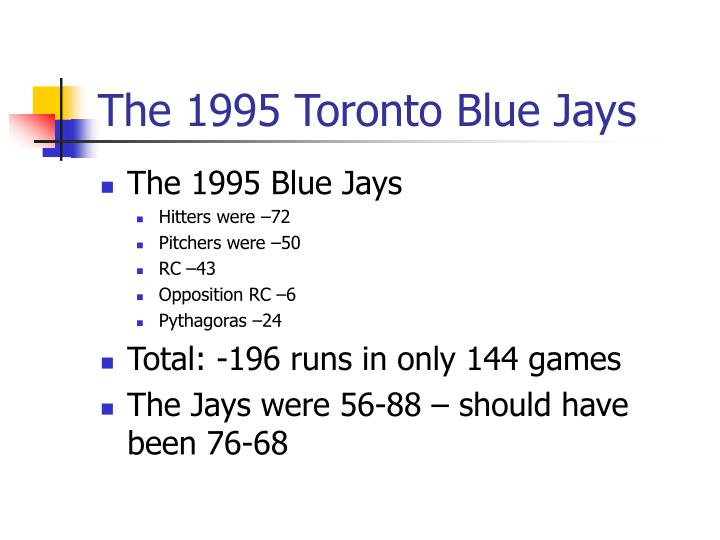 The 1995 Toronto Blue Jays