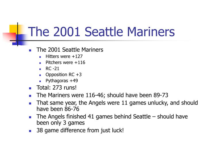 The 2001 Seattle Mariners