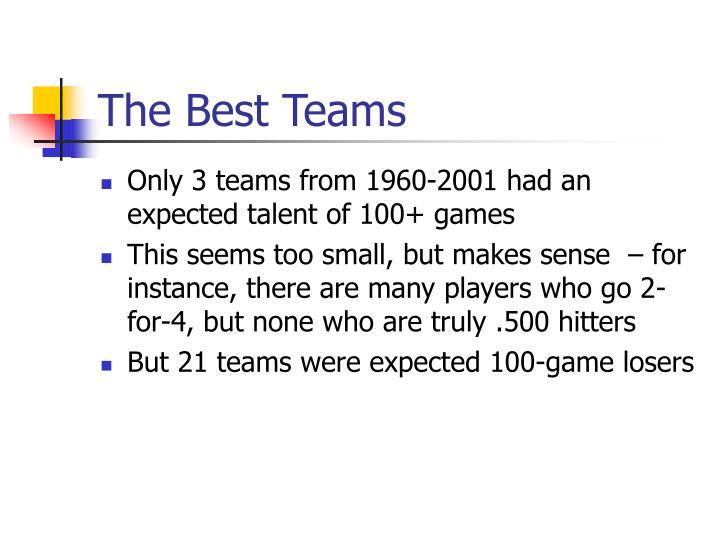 The Best Teams