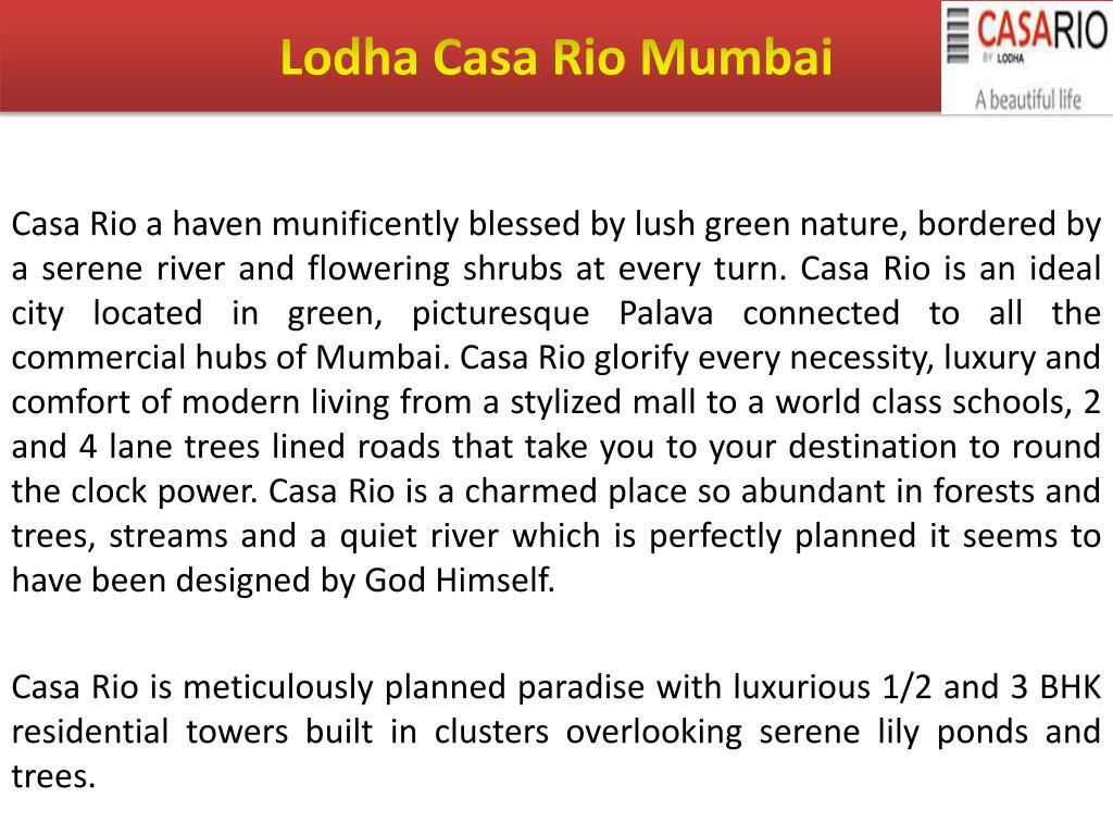 Lodha Casa Rio Mumbai