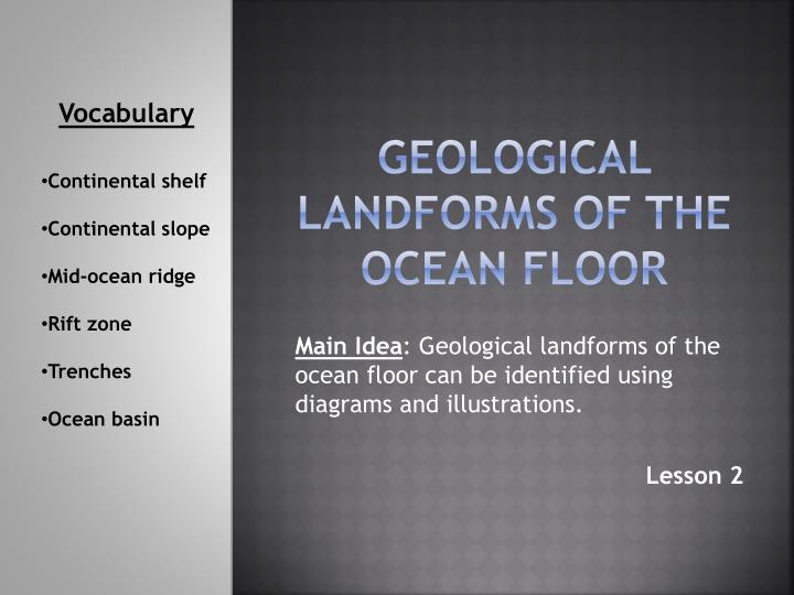 a generalized report on geological oceanography