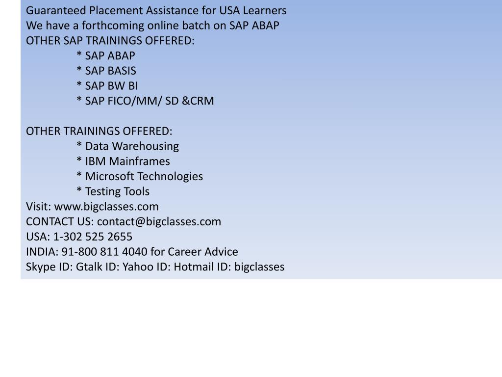 Guaranteed Placement Assistance for USA Learners