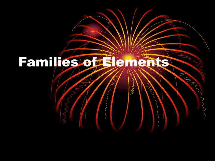 families of elements n.
