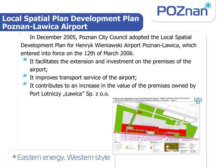 Local Spatial Plan Development Plan