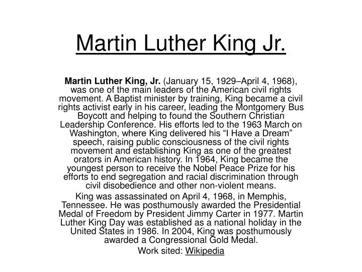 a comparison of martin luther king jr and henry david thoreau