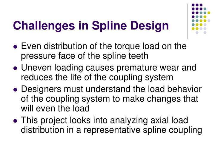 Challenges in Spline Design