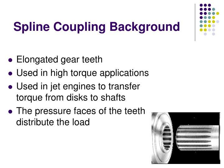 Spline coupling background