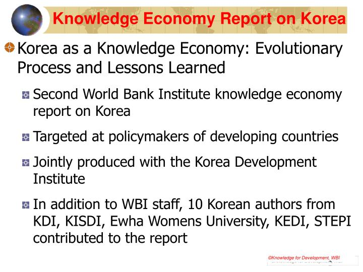 Knowledge economy report on korea