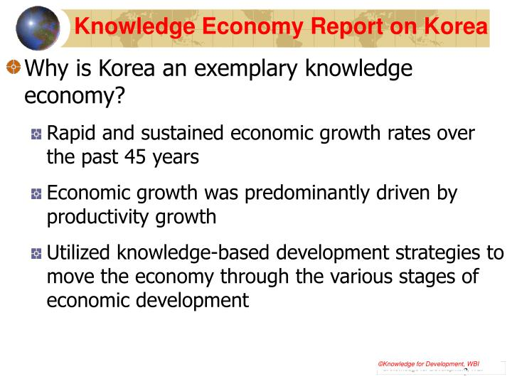 Knowledge economy report on korea1