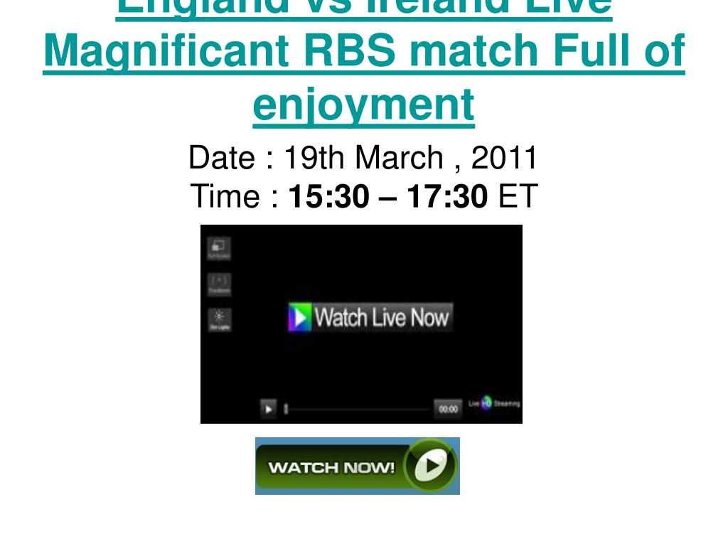 England vs Ireland Live Magnificant RBS match Full of enjoyment