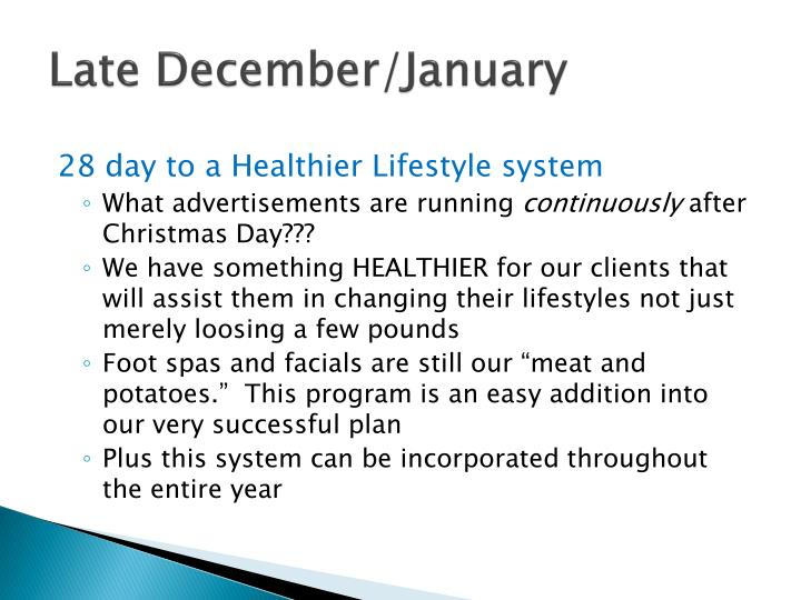 Late December/January