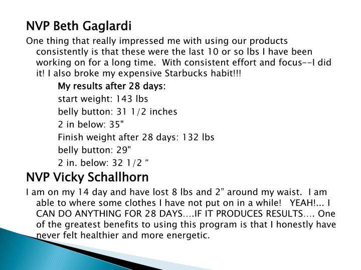 NVP Beth Gaglardi