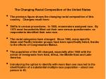 the changing racial composition of the united states