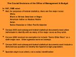 the crucial decisions of the office of management budget