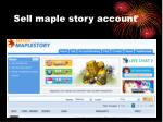 sell maple story account