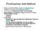 pivotcaches add method