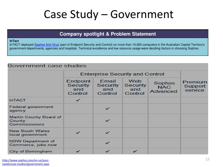 Case Study – Government