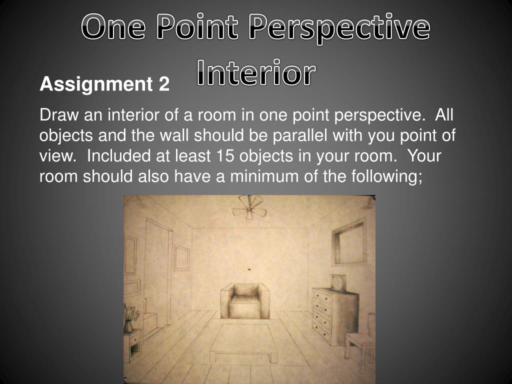 Ppt One Point Perspective Interior Powerpoint