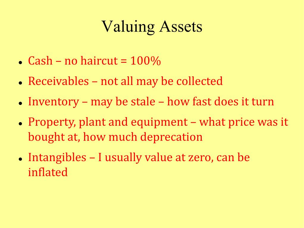Valuing Assets