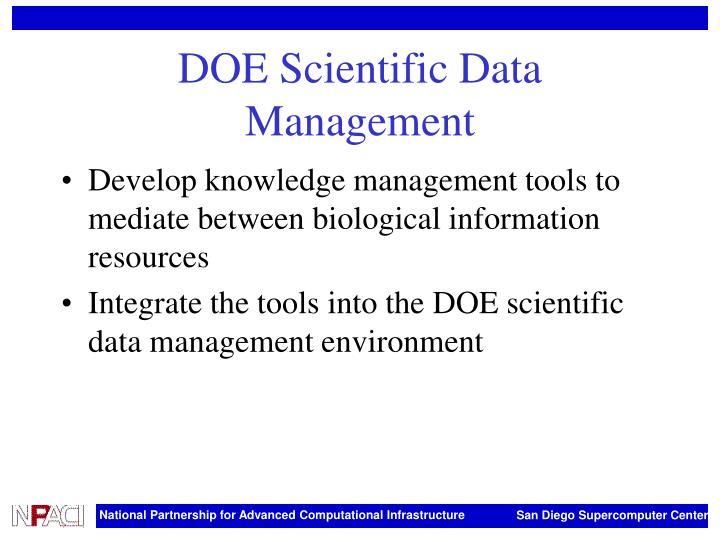 DOE Scientific Data Management