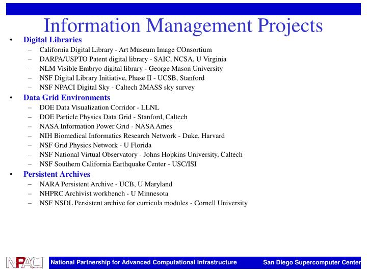 Information Management Projects