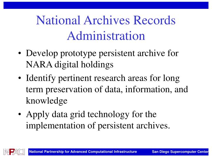 National Archives Records Administration