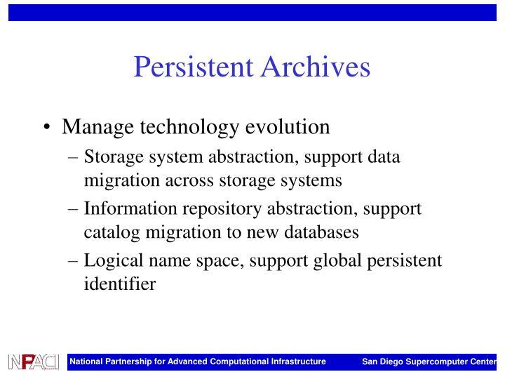 Persistent Archives