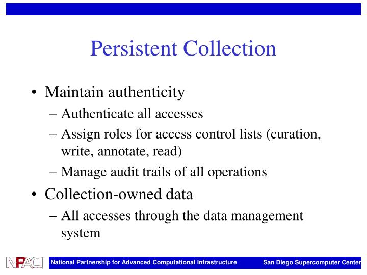 Persistent Collection