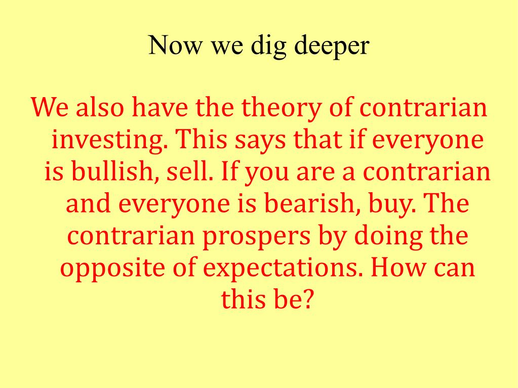 Now we dig deeper