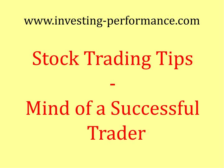 Stock trading tips mind of a successful trader