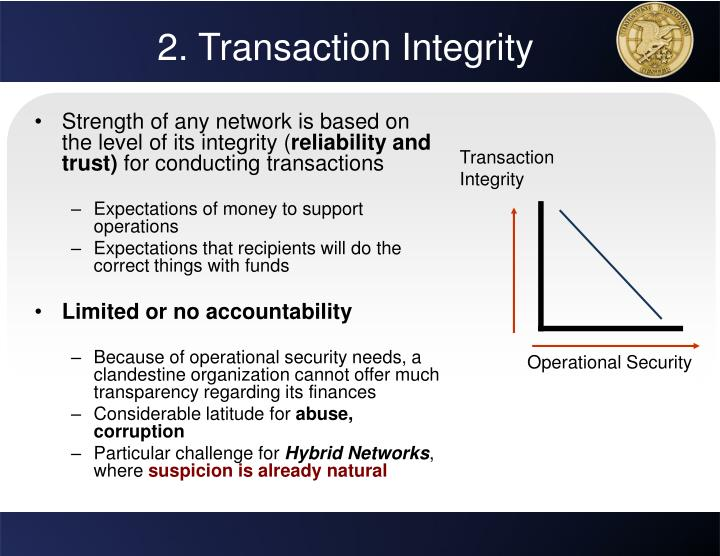 2. Transaction Integrity