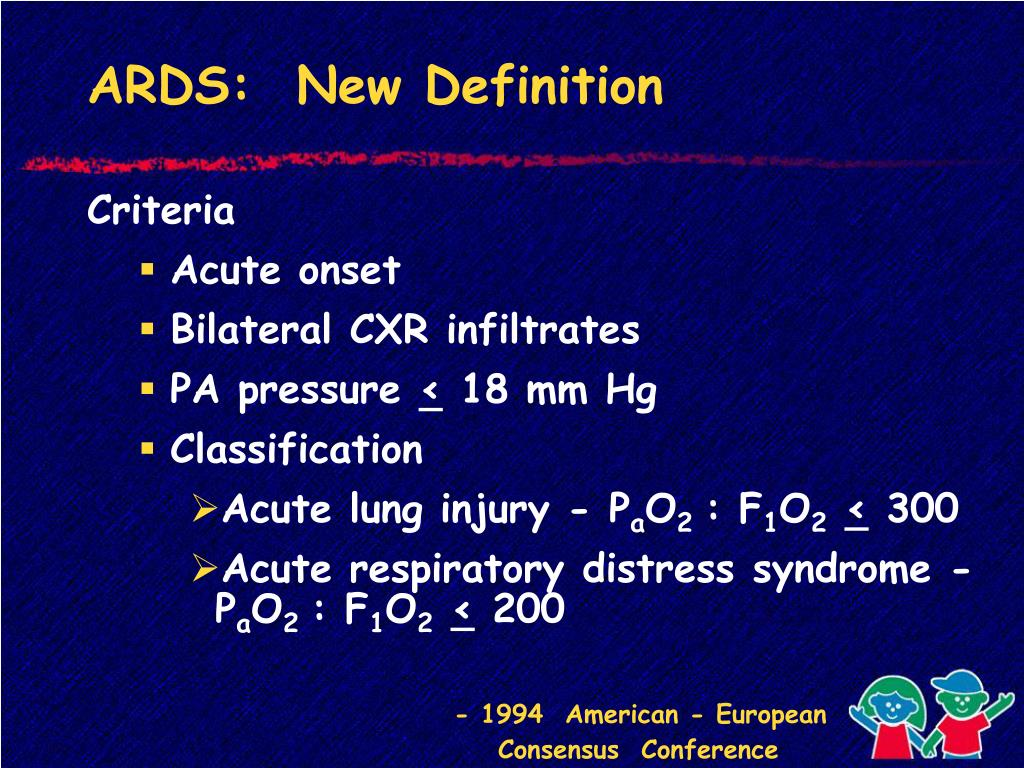 PPT - Chapter 7: Acute Respiratory Distress Syndrome
